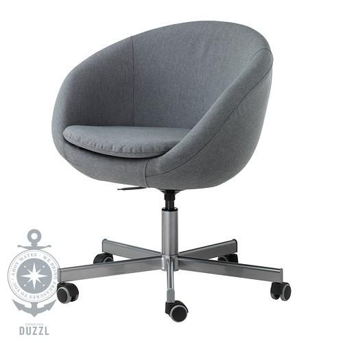 ikea skruvsta drehstuhl in grau b rostuhl schreibtischstuhl sessel ebay. Black Bedroom Furniture Sets. Home Design Ideas