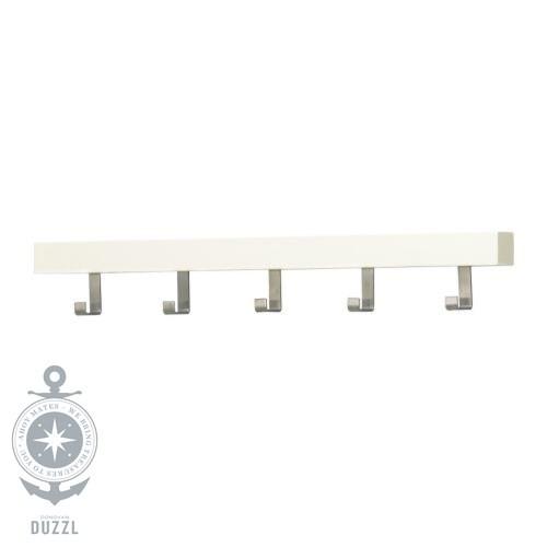 ikea tjusig aufh nger f r t r wand in wei 60cm garderobenleiste mit haken ebay. Black Bedroom Furniture Sets. Home Design Ideas
