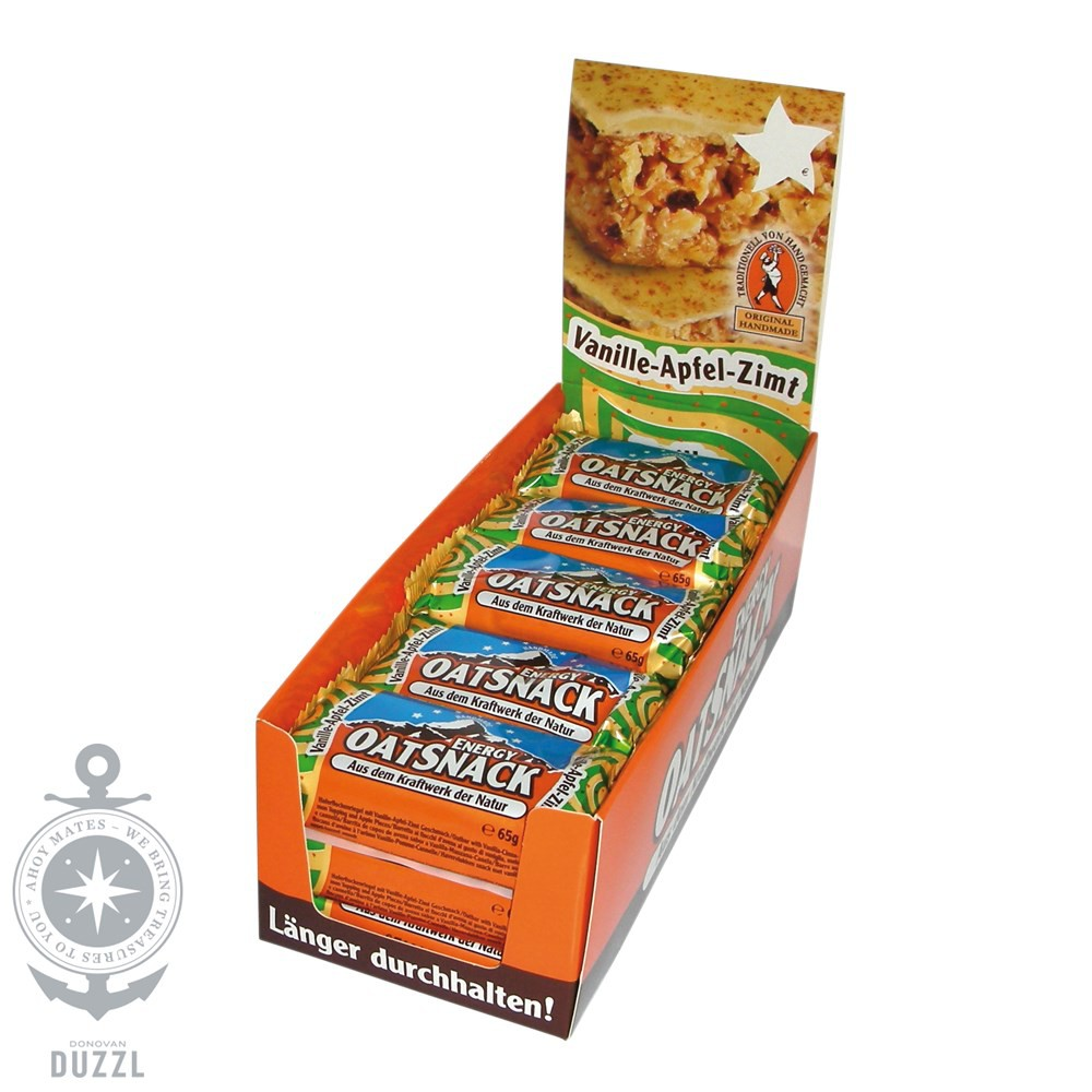 (16,93€1kg) Davina Energy Oat Snack 15 Riegel Vanille