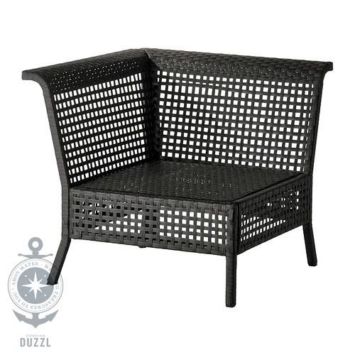 ikea kungsholmen eckelement f r au en in schwarzbraun garten bank stuhl sitz ebay. Black Bedroom Furniture Sets. Home Design Ideas