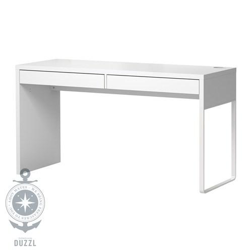 ikea micke schreibtisch in wei 142x50cm b rotisch computertisch ebay. Black Bedroom Furniture Sets. Home Design Ideas