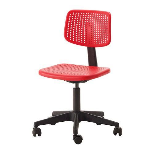 ikea alrik drehstuhl rot b rostuhl stuhl b ro schreibtischstuhl b rosessel neu ebay. Black Bedroom Furniture Sets. Home Design Ideas