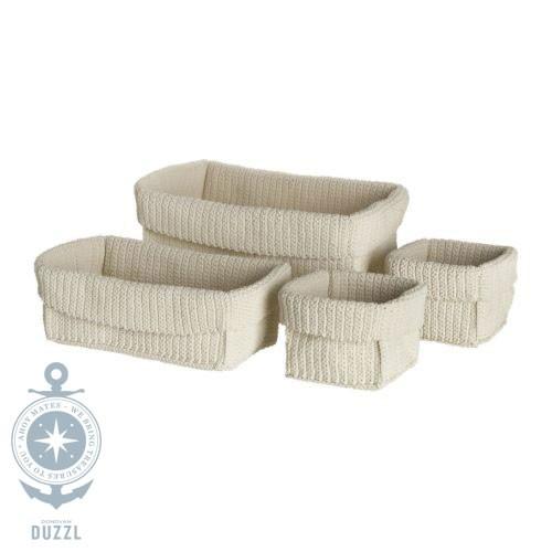 IKEA LIDAN Korb Handarbeit Körbe 4er-Set cremeweiß für Bad geeignet ...
