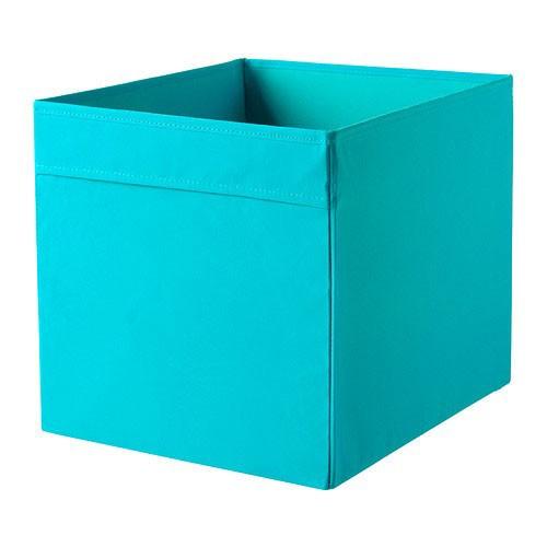 ikea dr na fach box f r expedit regal aufbewahrungsbox kiste t rkis 33x38x33cm ebay. Black Bedroom Furniture Sets. Home Design Ideas