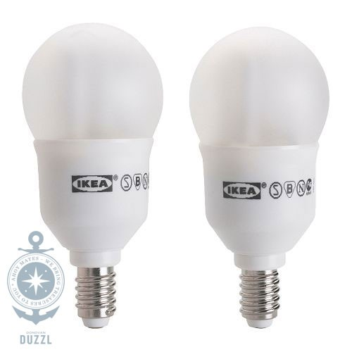 ikea sparsam 2er set energiesparlampe e14 7 watt gl hbirne lampe e 14 neu st ck ebay. Black Bedroom Furniture Sets. Home Design Ideas