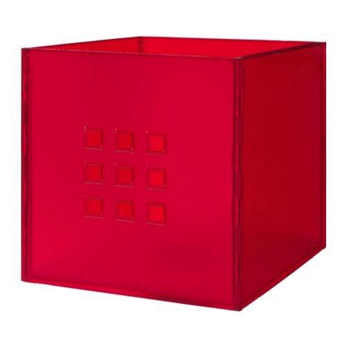 ikea lekman kasten box rot aufbewahrung 33x37x33cm f r expedit regal kasten neu ebay. Black Bedroom Furniture Sets. Home Design Ideas