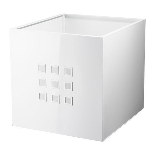ikea lekman box in wei 33x37x33cm passend f r expedit regal ebay. Black Bedroom Furniture Sets. Home Design Ideas