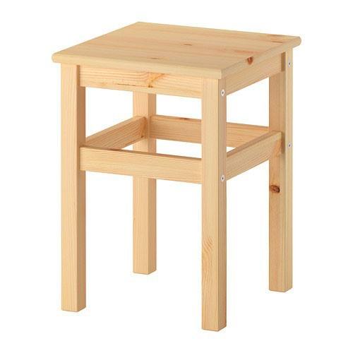 Ikea oddvar holz hocker sitzhocker sitzgelegenheit for Hocker stapelbar