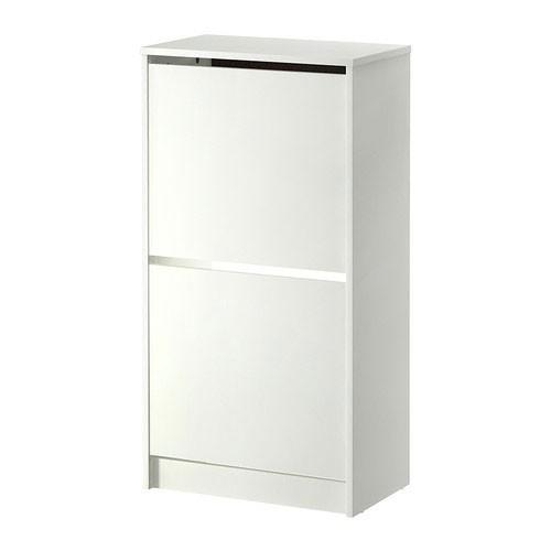 ikea bissa wei schuhschrank 2 f cher schuhablage. Black Bedroom Furniture Sets. Home Design Ideas
