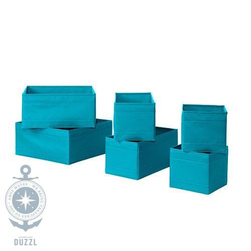ikea skubb box 6er set t rkis aufbewahrung schachtel boxen. Black Bedroom Furniture Sets. Home Design Ideas