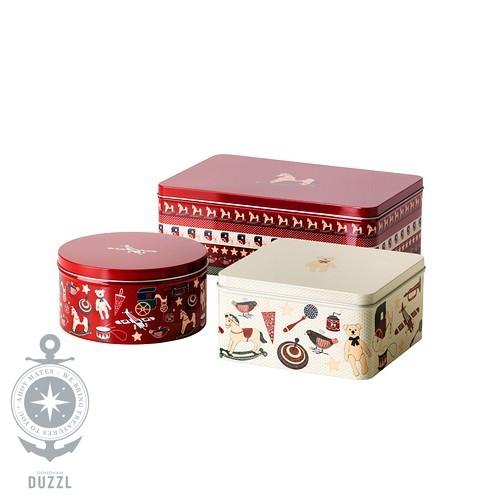 ikea sn kul 3 dosen mit deckel keksdosen weihnachtsdosen geb ckdosen verzinnt ebay. Black Bedroom Furniture Sets. Home Design Ideas
