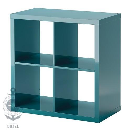 ikea kallax regal hochglanz t rkis 77 x 77cm kompatibel mit expedit wandregal ebay. Black Bedroom Furniture Sets. Home Design Ideas