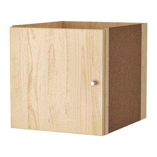 ikea kallax einsatz mit t r birkeneffekt 33 x 33cm kompatibel mit expedit ebay. Black Bedroom Furniture Sets. Home Design Ideas