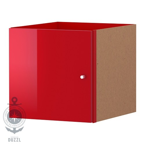 ikea kallax einsatz mit t r hochglanz rot 33 x 33cm kompatibel mit expedit ebay. Black Bedroom Furniture Sets. Home Design Ideas