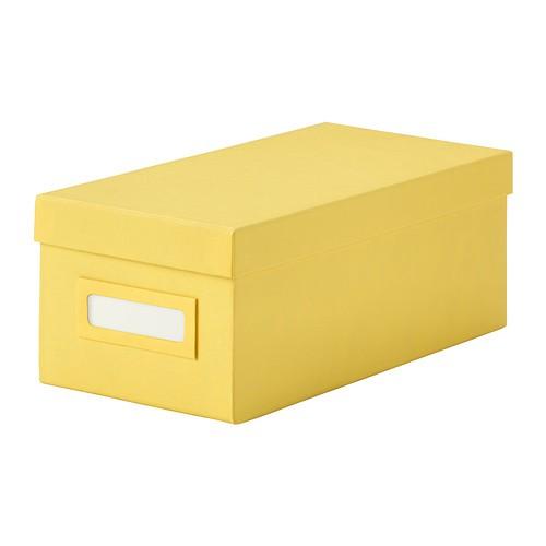 ikea tjena kasten mit deckel in gelb 13x26x10cm. Black Bedroom Furniture Sets. Home Design Ideas