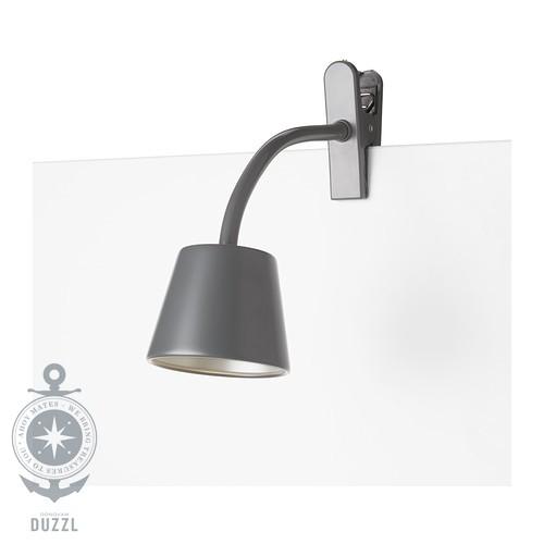 ikea tisdag led klemmspot in grau klemmlampe klemmleuchte. Black Bedroom Furniture Sets. Home Design Ideas