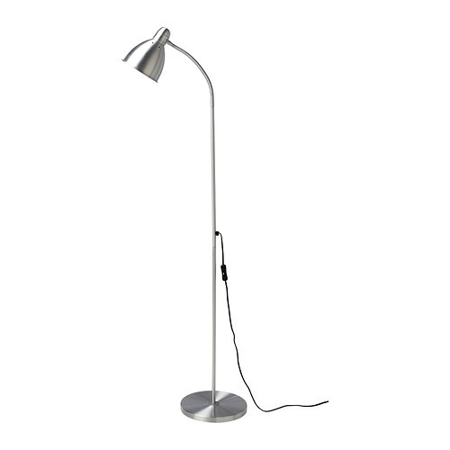 ikea lersta standleuchte leseleuchte aus aluminium 131 stehlampe beleuchtung ebay. Black Bedroom Furniture Sets. Home Design Ideas