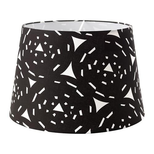 ikea halvlop lampenschirm schwarz wei 45cm f r deckenleuchten und standleuchten ebay. Black Bedroom Furniture Sets. Home Design Ideas