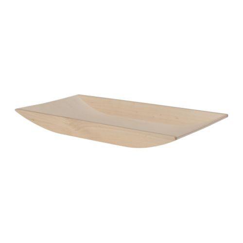 ikea 365 servierplatte aus birkenholz 42x22cm tablett holztablett holzplatte ebay. Black Bedroom Furniture Sets. Home Design Ideas