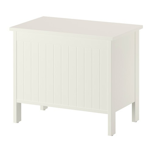 ikea silveran banktruhe in wei holztruhe badezimmer aufbewahrung ebay. Black Bedroom Furniture Sets. Home Design Ideas