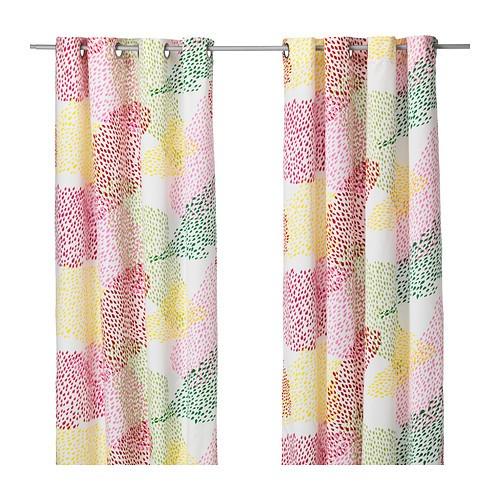 IKEA MURGRÖNA Gardinenpaar in bunt; (145x300cm) Vorhang Vorhänge ...