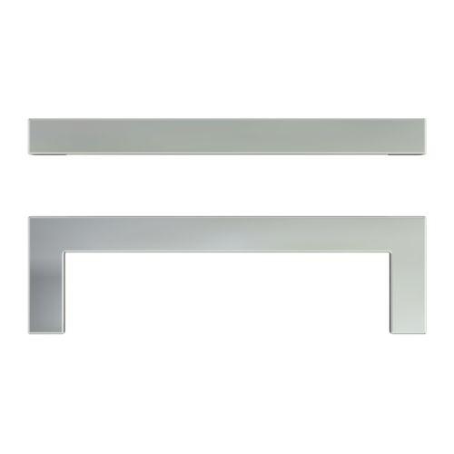 ikea metrik griffe in edelstahlfarben 2 st ck 10 6cm. Black Bedroom Furniture Sets. Home Design Ideas