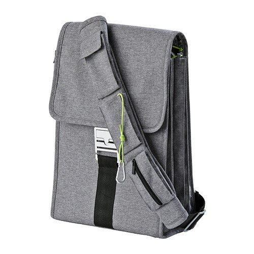 ikea uppt cka laptop rucksack grau notebook tasche schultertasche umh ngetasche ebay. Black Bedroom Furniture Sets. Home Design Ideas