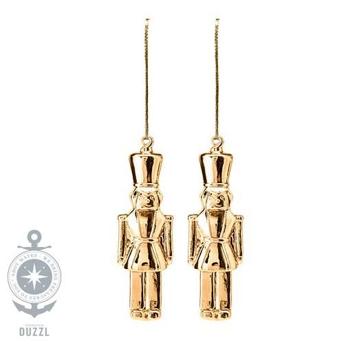 Ikea Weihnachten Christbaumkugel Dekokugel Aus Glas Gold: Ikea Vintermys Hängedekoration Nussknacker Glas Goldfarben